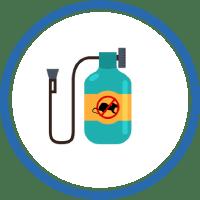 Icono aparato de fumigación para plagas
